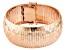 18k Rose Gold Over Sterling Silver Diamond Cut Omega Link Bracelet 7.5 inch