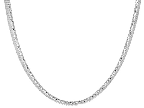 .11ctw Cubic Zirconia Sterling Silver Mesh Link Necklace 18 inch