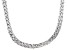 Sterling Silver 8 Strand Braided Herringbone Link Necklace 18 inch