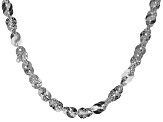 Sterling Silver Mirror Link Chain Necklace