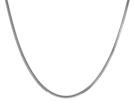 Sterling Silver Snake Link Chain Necklace 20 inch