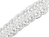 Sterling Silver Twisted Oval Link Bracelet 7.5 inch