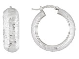 Sterling Silver Hoop Earrings 29mm X 9mm Gauge