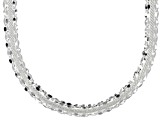 Sterling Silver Hollow Mirror And Panther Link Necklace 18 inch