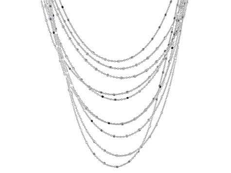 Sterling Silver Multistrand 16 inch Necklace