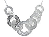 Sterling Silver Circle Station Necklace 18 inch