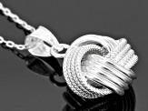 Sterling Silver Knot Pendant With Chain 18 inch
