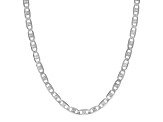 Sterling Silver Mariner Link Chain Necklace 20 inch