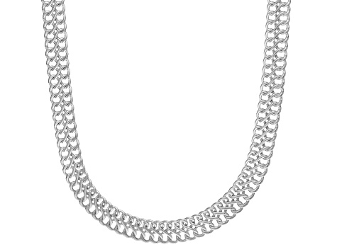 Sterling Silver infinity Link Chain Necklace 18 inch 5mm