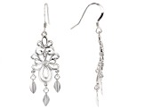 Rhodium Over Sterling Silver Chandelier Earrings