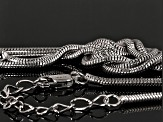 Rhodium Over Sterling Silver Snake Link Necklace 18 inch