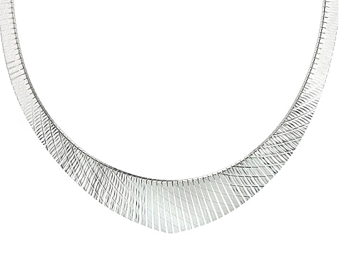 Sterling Silver Cleopatra Link Necklace 17 inch