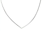 Sterling Silver Diamond Cut Omega Necklace 17 inch