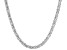 Sterling Silver Flat Byzantine Link Chain Necklace 18 inch 4.5mm