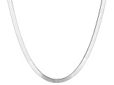 Sterling Silver Herringbone Link Chain Necklace 20 inch 4mm
