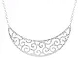 Sterling Silver Bib Necklace 18 inch