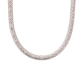 Sterling Silver Popcorn Link Necklace 18 inch