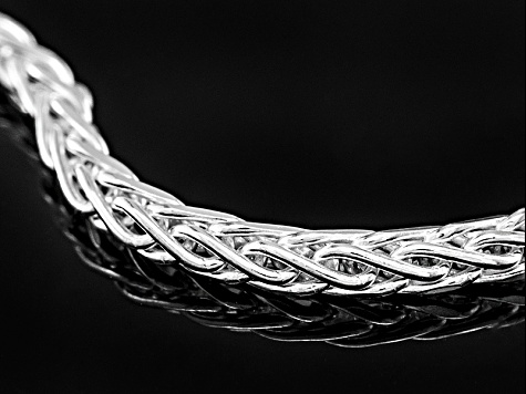 Sterling Silver Wheat Link Chain Necklace 20 inch