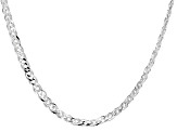 Sterling Silver Marquise Link Chain Necklace 20 inch 5.5mm
