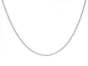Sterling Silver Snake Link Stations Necklace 20 inch