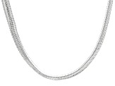 Sterling Silver Foxtail Link Chain Necklace 20 inch 7mm
