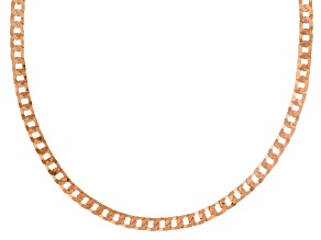 18k Rose Gold Over Sterling Silver Curb Link Chain Necklace 20 inch