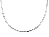 Sterling Silver Reversible Omega Link Chain Necklace 18 inch 4mm