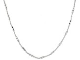 Sterling Silver Diamond Cut Cable Link Necklace 30 inch