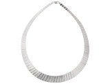 Sterling Silver Reversible Cleopatra Link Necklace 18 inch 5-16mm