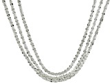 Sterling Silver Multistrand Necklace 18 inch