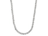 Sterling Silver Criss Cross Link Chain Necklace 18 inch 3mm