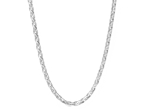 Sterling Silver Cable Link Chain Necklace 18 inch 2.5mm