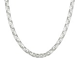 Sterling Silver Cable Link Chain Necklace 24 inch 2.5mm
