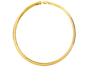 18k Yellow Gold Over Sterling Silver Omega Link Chain Necklace 18 inch 8mm