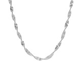 Sterling Silver Herringbone Link Necklace 18 inch