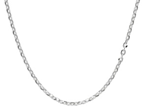 Sterling Silver Cable Link Chain Necklace 18 inch