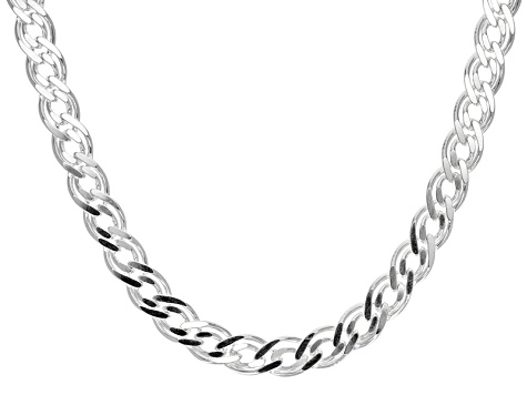Sterling Silver Curb Link Necklace 18 inch