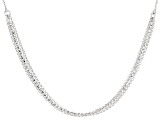 Rhodium Over Silver Multi-Strand Necklace 18 inch