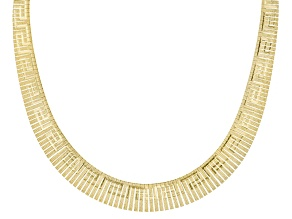 18k Yellow Gold Over Sterling Silver Omega Link Necklace 18 inch