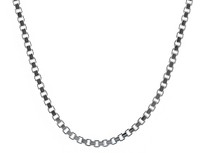 Sterling Silver Box Link Chain Necklace 18 inch