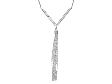Sterling Silver Tassle Necklace 18 inch