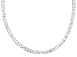 Sterling Silver Square Link Chain Necklace 20 inch 2.0mm