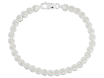 Picture of Sterling Silver Rosetta Link Bracelet 8 inch