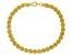 18k Yellow Gold Over Sterling Silver Rosetta Link 8 Inch Bracelet