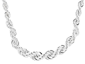 Sterling Silver Rope Link Necklace 20 inch