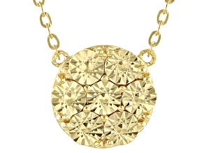 18k Yellow Gold Over Sterling Silver Disc Necklace 18 inch