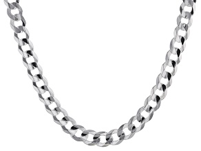 Sterling Silver Curb Link Chain Necklace 20 inch 5mm