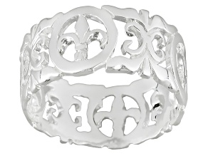 Sterling Silver Florentine Lily Ring