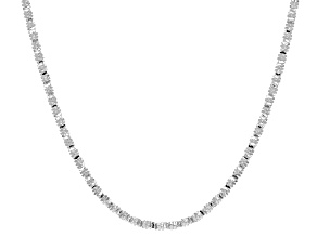 Sterling Silver Grande Foxtail Mosaico Necklace 20 inch