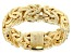 18K Yellow Gold Over Sterling Silver 6mm Byzantine Link Ring
